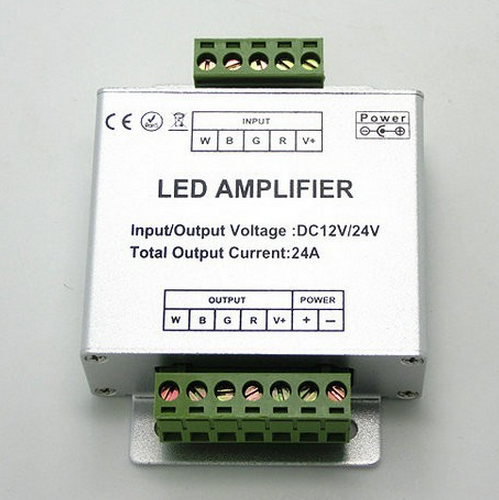 RGBW LED Booster Amplifier Signal Repeater DC 12V 24V