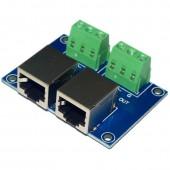 Terminal Adapter RJ4 3P to RJ45 Converter DMX Controller Decoder RJ45-3P