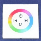 12V 24V White Shell Wall Mount Touch Panel RGB Embed LED Controller