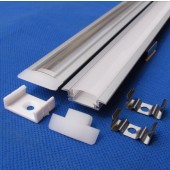 1M Flat Thin Aluminium Profile Channel with Cover for Rigid LED Strip 24pcs
