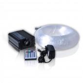 16W Rgb Led Fiber Optic Emitter 200pcs 2m Plastic Fibre For 6*10 ft Star Ceiling