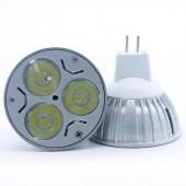 3W MR16 3 LEDs AC 12V Spotlight LED Lamp Bulb 5pcs