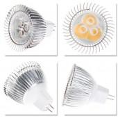 3W MR16 AC 12V LED Bulb 3LEDs Lightbulb Dimmable Lamp Light 5PCS