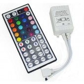 44-Key LED RGB Controller with IR Remote Control for RGB LED Strips
