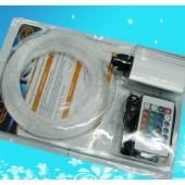 RGB LED Light Engine 150pcs 2M End Glow PMMA Optical Fiber Kit 24key Remote