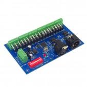 DMX512 18CH Controller DMX512 Decoder With RJ45 DC 12-24V WS-DMX-18CH-LED