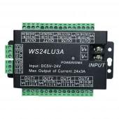 24CH Easy DMX512 DMX Decoder LED Dimmer Controller DC 5V-24V WS24LU3A