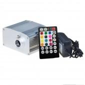 10W RGB White Twinkly Fiber Optic Driver Device RF remote App control 14mm fiber connector