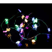 Colorful Butterfly 7ft 2M 20 LED Copper Wire String Fariy Light