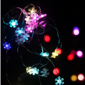 Colorful Sunflower 7ft 2M 20 LED Copper Wire String Fariy Light 5pcs