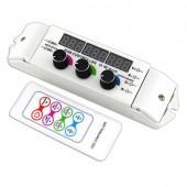Bincolor Led Controller BC-350RF 12v-24v 3CH Display 3CH Rotary Remote Control