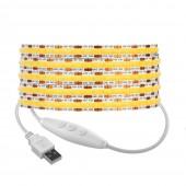 DC5V USB FCOB LED Light Strip 8mm PCB 320LEDs/m Linear Dimmable
