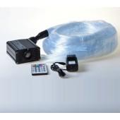 FIDER OPTIC table light with 16W RGB light engine 100pcs 3*0.75mm 2.0m fiber 28keys remote controller