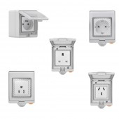 SONOFF S55 Wifi Smart Socket ,IP55 Waterproof Smart Plug Outlet Timer Switch For Smart Home Compatible With Alexa Google Home
