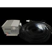 MITSUBISHI 60pcs 1.5mm Black PVC Sheathed Fiber Cables Twinkle 5w Cree LED Light Engine For Fiber Optic Deck Lighting