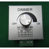 LED Strip Light Dimmer Controller 12V 24V 8A Rotary Knob Aluminium Casing