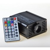 Safely Heat Sealed 160pcs 3*0.75mm 3m Fiber 16W RGB LED Fibre Optic Light Engine Fiber Optic Light For Kids Sensory Room