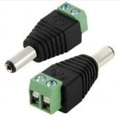 Male Power Connector 12v 24v Screw Terminal Barrel Style Plug 10Pcs