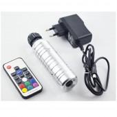 6W RGB mini Led Light Illuminator + 250pcs 0.75mm 1M PMMA End Lit Fibre Optic Cable
