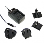 Mean Well GE24 24W AC-DC Interchangeable Industrial Adaptor Power Supply