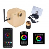 Bluetooth Music WIFI App LED fiber optic light illuminator with touch remote wall controller