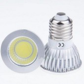 New COB 6W Led Spotlights Lamp 120 Angle E27 Dimmable Light Bulb 5pcs