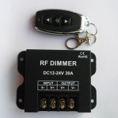 RF Led Dimmer Wireless Brightness 3 Keys Remote Controller DC 12V 24V 30A