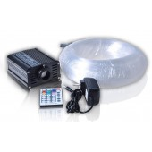16W RGB 400pcs*0.75mm*4M LED Fiber optic light Star Ceiling Kit lighting Gear