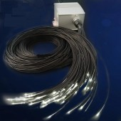 CREE LED Twinkle Projector Mitsubishi Fiber Optic Cable With Black PVC Cover Dim Remote For Fiber Optic Star Floor Light
