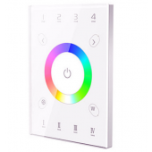 LTECH UX8 RGBW Wall Touch Glass Panel 4 zones Multi Function Controller