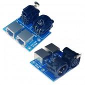 DMX512 3P Relays switch RGB LED controller Decoder dimmer signal Control lXLR3-RJ45